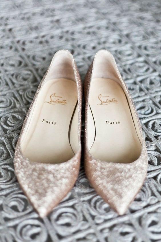 7b0715e8db Τα τακούνια είναι πασέ -35 φλατ νυφικά παπούτσια  εικόνες