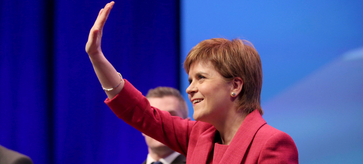 H πρωθυπουργός της Σκωτίας, Νίκολα Στέρτζον (Φωτογραφία αρχείου: ΑΡ)