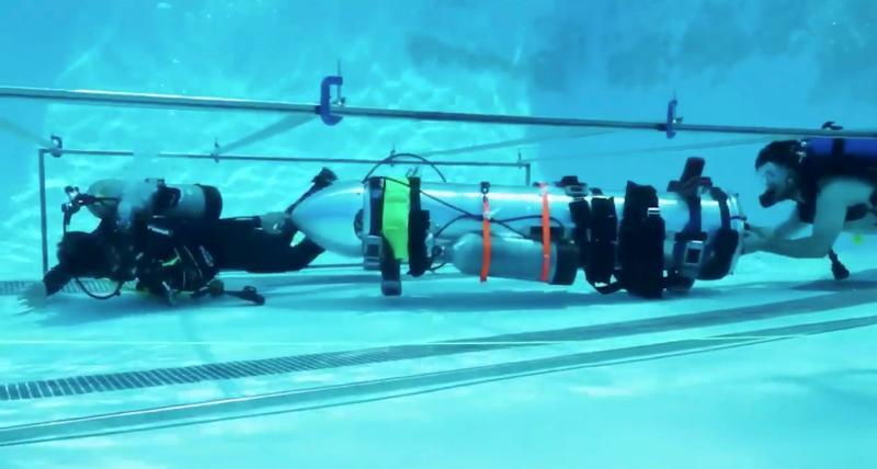 Το υποβρύχιο που κατασκεύασε η ομάδα του Έλον Μασκ για τη διάσωση των παιδιών και του προπονητή τους στην Ταϊλάνδη (Φωτογραφία: ΑΡ)