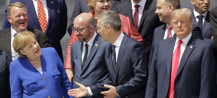 Στιγμιότυπο από τη Σύνοδο του ΝΑΤΟ (Φωτογραφία: AP/ Markus Schreiber)