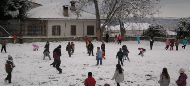 Σε ποιες περιοχές ο παγετός θα κρατήσει κλειστά τα σχολεία