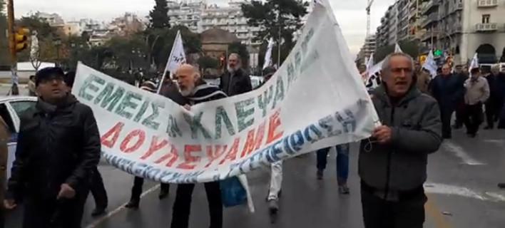 Συνταξιούχοι στη Θεσσαλονίκη