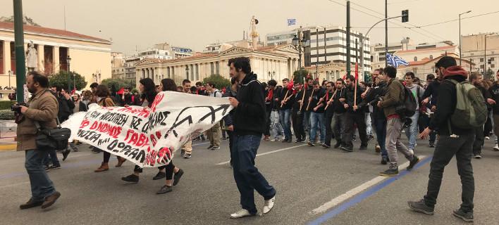Συλλαλητήριο εκπαιδευτικών- φοιτητών στα Προπύλαια -Κλειστές Πανεπιστημίου-Σταδίου [εικόνες & βίντεο]