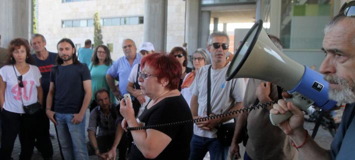 διαμαρτυρία συμβασιούχων/Φωτογραφία: IntimeNews