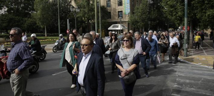 Συνταξιούχοι σε πορεία διαμαρτυρίας/Φωτογραφία: Eurokinissi