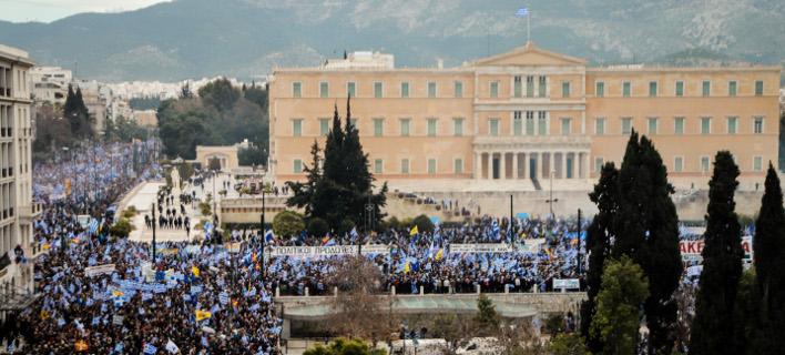 Νέα συγκέντρωση κατά της Συμφωνίας την Πέμπτη/ Φωτογραφία: EUROKINISSI- ΓΙΩΡΓΟΣ ΚΟΝΤΑΡΙΝΗΣ