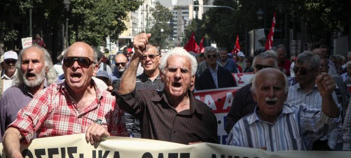 Πορεία συνταξιούχων στο κέντρο της Αθήνας/Φωτογραφία: Eurokinissi