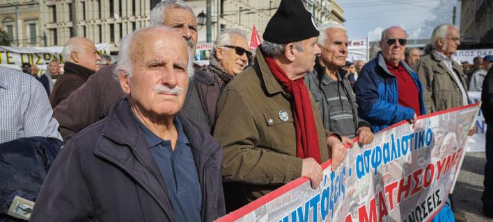 Από πρόσφατη συγκέντρωση συνταξιούχων / Φωτογραφία: EUROKINISSI