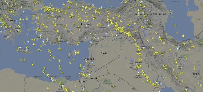 Τέλος οι πτήσεις πάνω από τη Συρία -Δεν πετάει ούτε ένα αεροπλάνο [εικόνα]