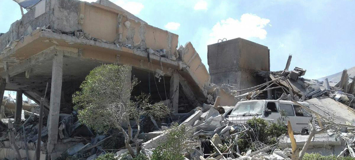 Φωτογραφία: AP- Βομβαρδισμός στην Συρία