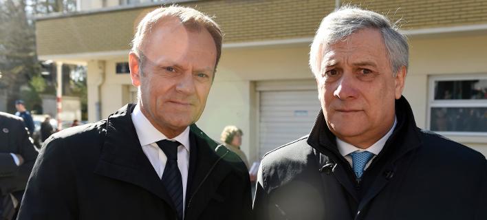 Ο Ντόναλντ Τουσκ και ο Αντόνιο Ταγιάνι/Φωτογραφία αρχείου:AP