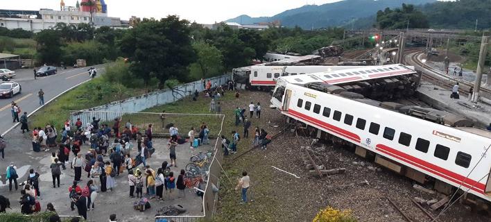 Εκτροχιασμός τρένου στην Ταϊβάν/ Φωτογραφία: Twitter