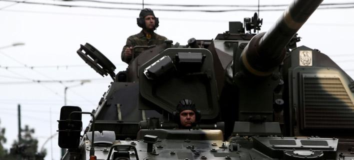 Τανκ του Ελληνικού Στρατού στην παρέλαση για τον εορτασμό της 25ης Μαρτίου-Φωτογραφία: Intimenews/Παναγιώτης Τζάμαρος