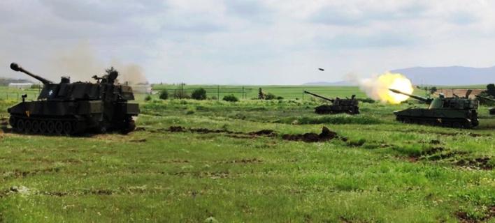 ΤΑΜΣ «ΒΕΡΣΗΣ 2018», η άσκηση του Πυροβολικού / Φωτογραφία: army.gr