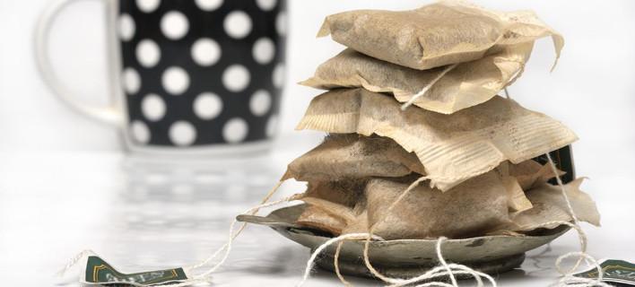 Χρησιμοποιημένα φακελάκια τσαγιού, Φωτογραφία: Shutterstock