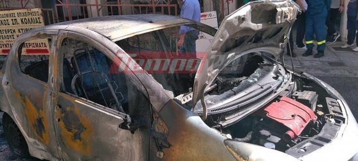 Πάτρα: Τσακώθηκαν και έβαλε φωτιά σε αυτοκίνητο συγγενή του- Κάηκαν δύο ακόμα οχήματα [εικόνες&βίντεο]