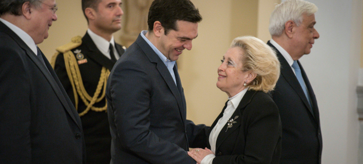 Ο Αλέξης Τσίπρας και η Βασιλική Θάνου / Φωτογραφία: InTime News