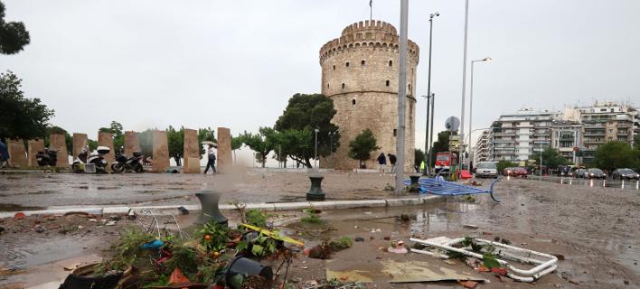 Νεροποντή στη Θεσσαλονίκη/Φωτογραφία: Eurokinissi