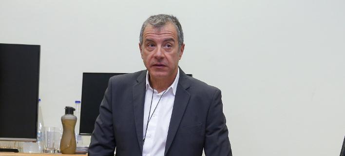 Ο Σταύρος Θεοδωράκης (Φωτογραφία: IntimeNews/ΣΤΕΦΑΝΟΥ ΣΤΕΛΙΟΣ)