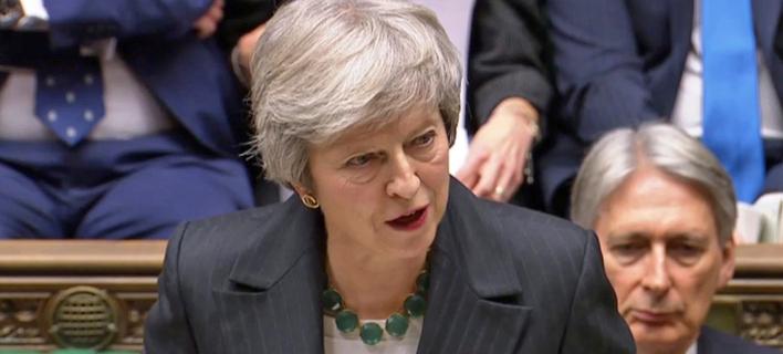 Η πρωθυπουργός της Βρετανίας, Τερέζα Μέι (Φωτογραφία: PA via AP)