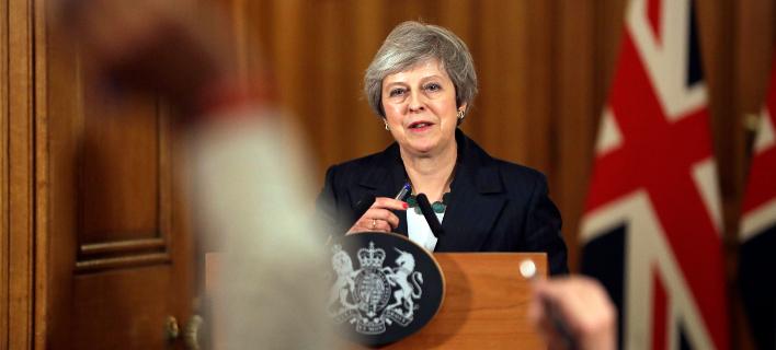 Η πρωθυπουργός της Βρετανίας, Τερέζα Μέι (Φωτογραφία: ΑΡ/Matt Dunham, Pool)
