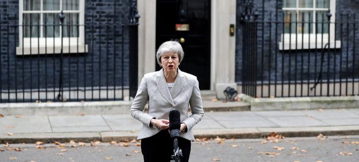 Η πρωθυπουργός της Βρετανίας, Τερέζα Μέι (Φωτογραφία: ΑΡ/Kirsty Wigglesworth)