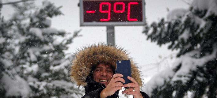 Συνθήκες παγετού σε όλη, σχεδόν, τη χώρα / Φωτογραφία: EUROKINISSI