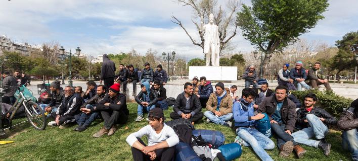 πρόσφυγες στη Θεσσαλονίκη/Φωτογραφία: Eurokinissi