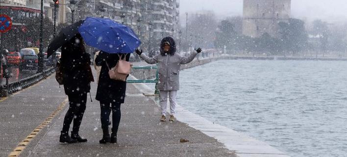 Φωτογραφία; Eurokinissi- Χιόνι στην Θεσσαλονίκη