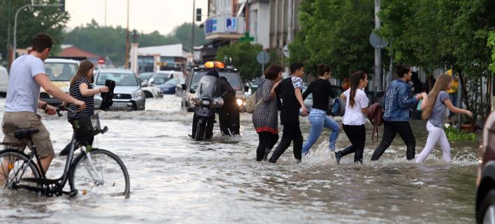 Καταιγίδα στη Θεσσαλονίκη/Φωτογραφία: Eurokinissi