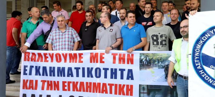 Διαμαρτυρία αστυνομικών στη Θεσσαλονίκη/Φωτογραφία: Eurokinissi