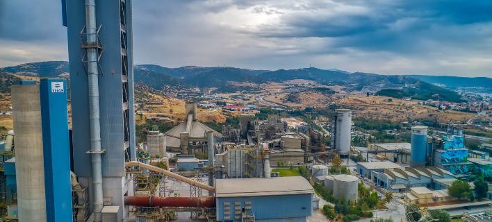 Το εργοστάσιο Τιτάν στη Θεσσαλονίκη/Φωτογραφία: Eurokinissi