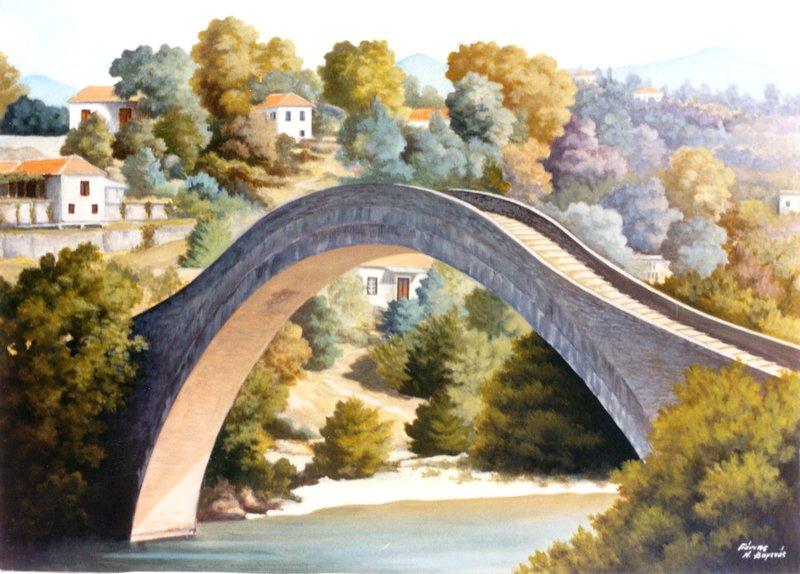 Το ιστορικό γεφύρι της Πλάκας είχε τραγική κατάληξη αφού πλέον αποτελεί έναν σωρό από πέτρες...