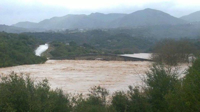 Το Γεφύρι της Τέμπλας υπέστη εξίσου μεγάλες ζημιές στις πρόσφατες πλημμύρες