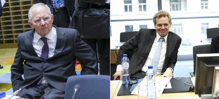 Ο Σόιμπλε φέρεται να πνέει τα μένεα για Τόμσεν (Φωτογραφίες: EUROKINISSI)