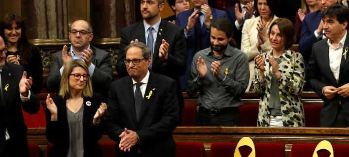 Ο αυτονομιστής βουλευτής Κιμ Τόρα αναμένεται να εκλεγεί νέος πρόεδρος της Καταλονίας (Φωτογραφία: ΑΡ)