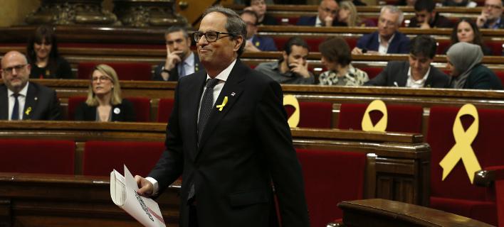 Ο Κιμ Τόρα εξελέγη πρόεδρος της Καταλονίας (Φωτογραφία: AP/ Manu Fernandez)