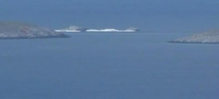 Νέα πρόκληση από την Αγκυρα: Υποστηρίζει πως τουρκικό πλοίο καταδίωξε ελληνικό ανοιχτά των Ιμίων [βίντεο]