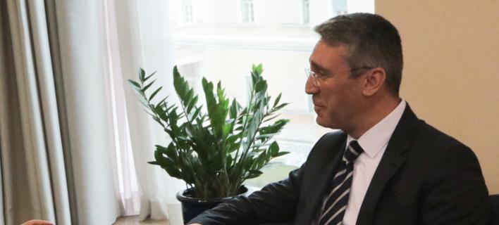 Ο Μπουράκ Οζουγκεργκίν (Φωτογραφία: ΧΡΗΣΤΟΣ ΜΠΟΝΗΣ//EUROKINISSI)