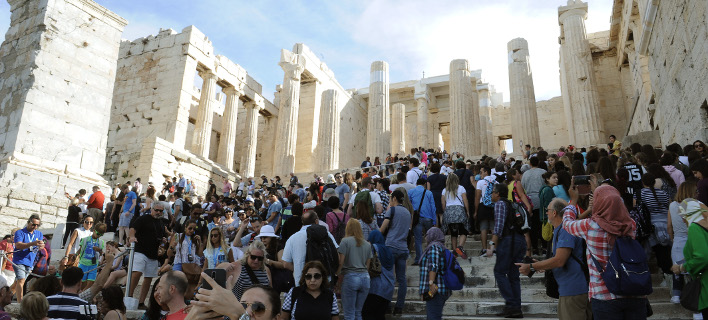 Τουρίστες στην Αθήνα/Φωτογραφία: Eurokinissi