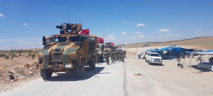 Τούρκοι στρατιώτες άρχισαν να επιχειρούν στην πόλη Μάνμπιτζ (Φωτογραφία: Twitter)