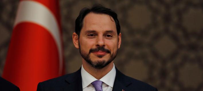 O Τούρκος υπουργός Οικονομικών, Μπεράτ Αλμπαϊράκ/ Φωτογραφία: AP