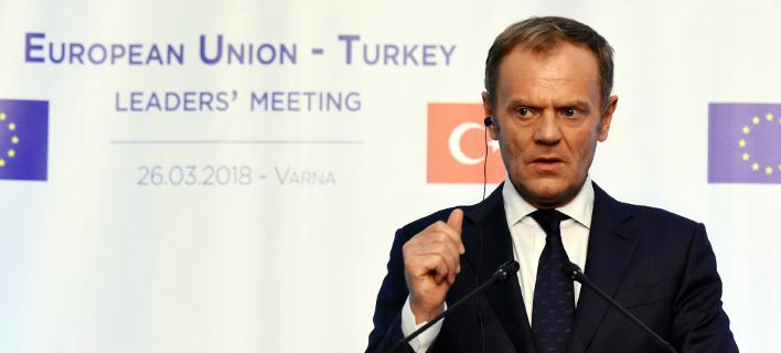 Ο πρόεδρος του Ευρωπαϊκού Συμβουλίου, Ντόναλντ Τουσκ/Φωτογραφία: ΑΡ