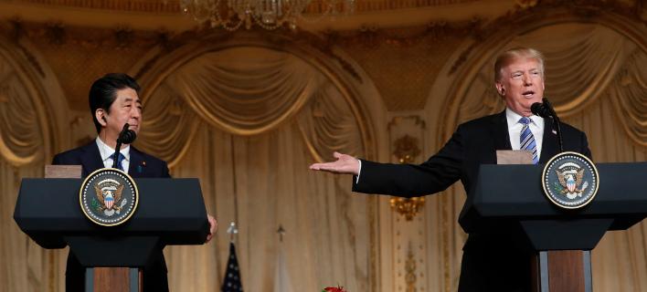 Τραμπ και Αμπε συμφωνούν: «Μέγιστη πίεση» στην Πιονγκγιάνγκ μέχρι να αποπυρηνικοποιηθεί