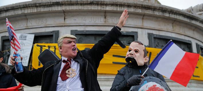 Διαδήλωση στο Παρίσι κατά του Ντόναλντ Τραμπ/Φωτογραφία: AP