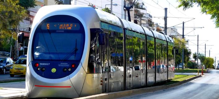 Τραμ (Φωτογραφία: ΚΟΝΤΑΡΙΝΗΣ ΓΙΩΡΓΟΣ/EUROKINISSI)