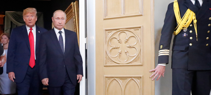 Ο Ντόναλντ Τραμπ & ο Βλαντίμιρ Πούτιν (Φωτογραφία: AP Photo/Pablo Martinez Monsivais)