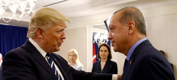 Τραμπ-Ερντογάν/Φωτογραφία: AP