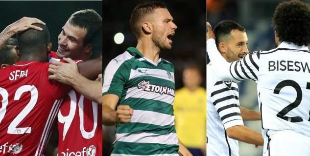 Ωρα Europa League - Για την πρόκριση Ολυμπιακός, ΠΑΟΚ και ΠΑΟ