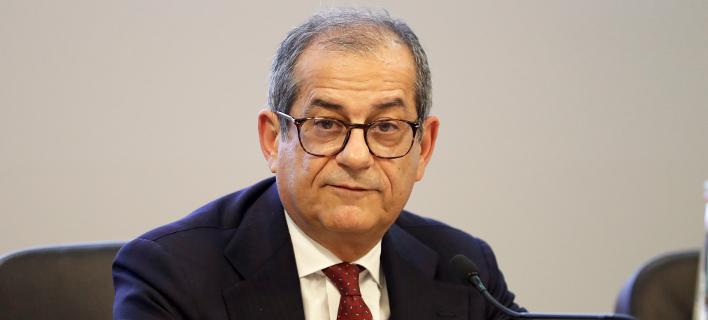 O υπουργός Οικονομικών της Ιταλίας, Τζιοβάνι Τρία (Φωτογραφία: AP/Andrew Medichini)